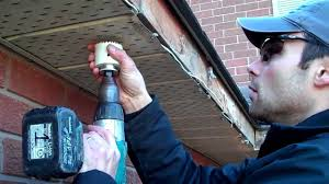 install outdoor garage lights fireplace cutting holes for led recessed soffit lighting how
