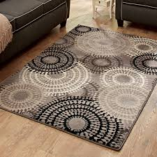 better homes or gardens taupe ornate circles area rug or runner