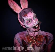 Halloween Bunny Makeup by Peter Rottentail Zombie Easter Bunny Makeup And Body Paint