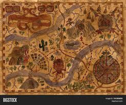 Treasure Island Map Hand Drawn Illustration Pirate Map Image U0026 Photo Bigstock