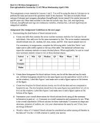 stat 311 written assignment 1 due uploaded to canv chegg com