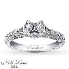 neil engagement ring jared neil ring setting 1 8 ct tw diamonds 14k white gold