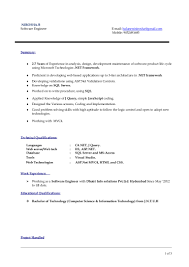 resume format for 5 years experience in net asp net 3 years experience resume virtren com aspnet mvc resume free resume example and writing download