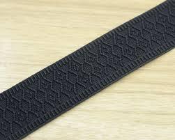stretchy ribbon 1 5 inch 38mm wide waistband elastic ethnic pattern black elastic