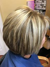 blonde highlights and lowlights for this short hair cut and style