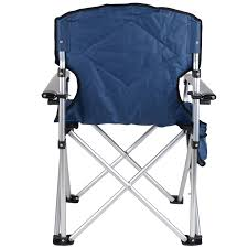Armchair Drink Holder Folding Camping Chair Padded Outdoor Festival Armchair With Drink