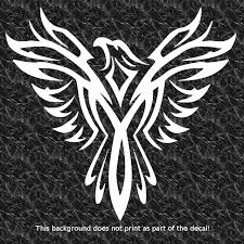 phoenix rising from the ashes decal sticker soaring eagle tattoo