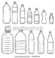 vector set sketch plastic bottles stock vector 246830764
