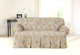 one piece stretch sofa slipcover sure fit t cushion sofa slipcover photo of stretch stripe separate