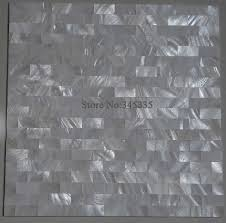 groutless kitchen backsplash white groutless brick shell mosaic tile mother of pearl decoration