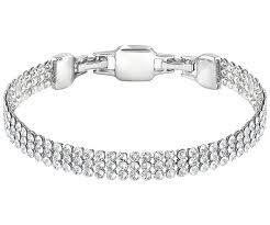 mesh bracelet swarovski images Clim bracelet white rhodium plating jewelry swarovski online jpg