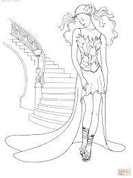 tulip dress coloring free printable coloring pages