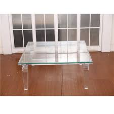 Square Acrylic Coffee Table List Manufacturers Of Glass Waterfall Tables Buy Glass Waterfall