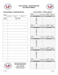 volleyball lineup template printable baseball stat sheets trials