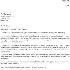 Cover Letter For Entry Level Best Event Planner Cover Letter U2013 Letter Format Writing