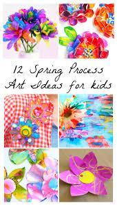 12 beautiful spring flower process art ideas for kids process
