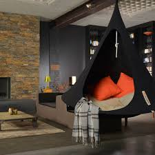 Swing Indoor Chair Single Cacoon Hammock Black Hanging Chair Indoor And Modern