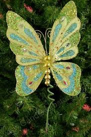 Glitter Butterfly Christmas Decorations by 736 Best Christmas In Multiple Colors Images On Pinterest