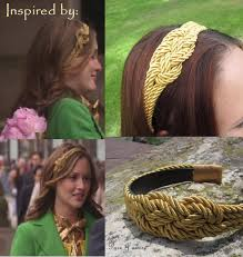 blair waldorf headbands gossip girl inspired gold nautical rope headband