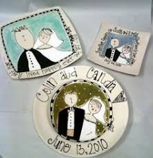 personalized ceramic wedding plates personalized wedding plate wedding cake painted ceramic