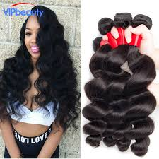 body wave vs loose wave hair extension vip beauty peruvian loose wave 4pcs lot 7a unprocessed human hair