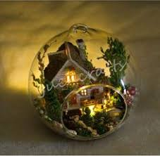Sweet Coffee Shop France Style Diy Doll House 3d Miniature Diy Glass Ball Dollhouse Miniature Snow Ball Dollhouse By Unitime