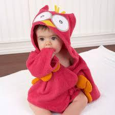 robe de chambre originale peignoir bébé coton framboisier hibou peignoir bébé