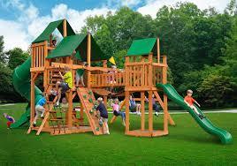 outdoors walmart playsets wood gorilla swing sets outdoor