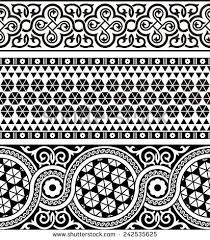 set three vintage ornamental border asian stock vector 242535625