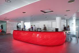 Acrylic Reception Desk Lighting Dfmk Solid Surface Milton Keynes