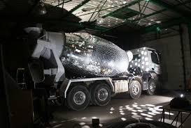 disco truck u2013 a cement mixer transformed into a giant disco ball