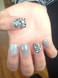 dark grey and mint green acrylic nails solid nails with hand