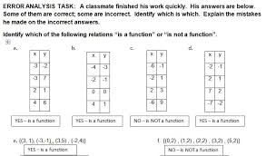 algebra u0027s friend error analysis function or not a function