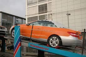 orange mercedes a silver u0026 orange mercedes benz e class cabriolet has been spied