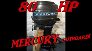 cold start 1978 outboard engine mercury 80 hp two stroke youtube