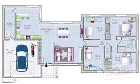 plan maison 100m2 3 chambres déco plan maison plain pied 18 lille plan maison en l plain