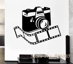 online buy wholesale photographic wall murals from china removable wall decal camera photo photographer fashion home decor sticker diy living room wall mural waterproof