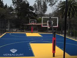 Basketball Courts With Lights Versacourt Indoor Outdoor U0026 Backyard Basketball Courts