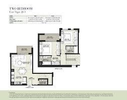 boulevard by nshama 2 bedroom apartment type 2j 1 floor plan
