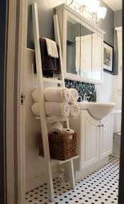 bathroom oak shelf ladder rustic wood ladder style shelving