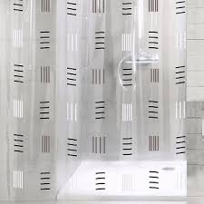grafico vinyl shower curtain with contemporary black and white