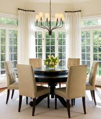 upholstered breakfast nook dc metro short curtain rods dining room transitional with drapes