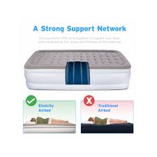 etekcity air mattress raised airbed with built in high capacity