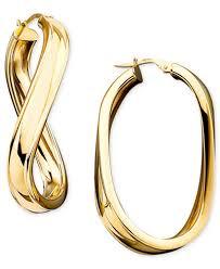 oval hoop earrings italian gold twisted oval hoop earrings in 14k gold earrings