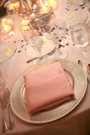 pale pink table cover pale pink table linens and pocket fold napkins with silver chargers