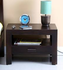 side table for bed buy acropolis solid wood bed side table in warm chestnut finish by