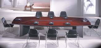 Grey Meeting Table Wonderful Office Conference Table Boat Shaped Mahogany Finish