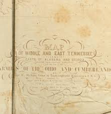 Map Of Tennessee And Georgia by 1862 Civil War Map Of Tennessee By N Michler Ebth