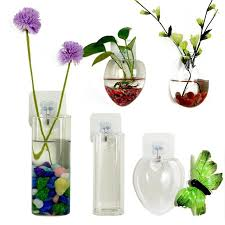 2017 new fashion clear glass wall hanging vase bottle terrarium