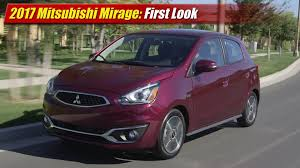 mitsubishi mirage 2017 mitsubishi mirage first look youtube